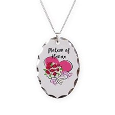 Matron of Honors Heart Bouquet Necklace