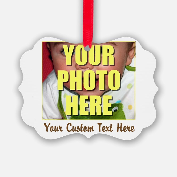 Custom Photo and Text Ornament