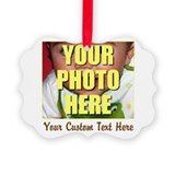 Custom photo and text Ornaments
