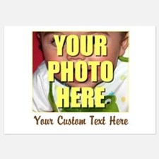 Custom Photo and Text Invitations