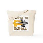 Ilovetoscroll Tote Bag
