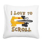 Ilovetoscroll Square Canvas Pillow