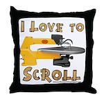 Ilovetoscroll Throw Pillow