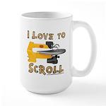 Ilovetoscroll Large Mug Mugs