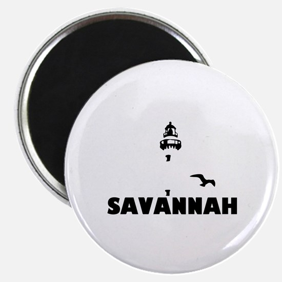 Savannah Beach GA - Lighthouse Design. Magnet