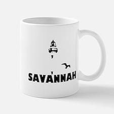 Savannah Beach GA - Lighthouse Design. Mug