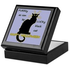 Lucky Black Cat Keepsake Box