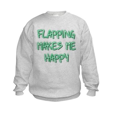 Flapping Makes Me Happy Kids Sweatshirt
