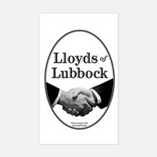 Lloyds of Lubbock - Rectangle Decal