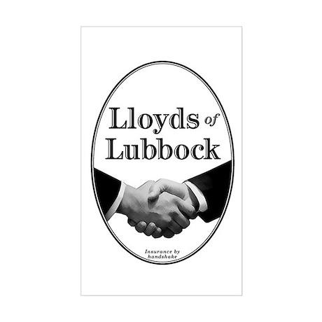 Lloyds of Lubbock - Rectangle Sticker