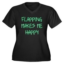 Flapping Makes Me Happy Women's Plus Size V-Neck D