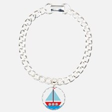 Red Sailboat in Water Bracelet