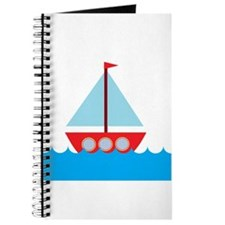 Red Sailboat in Water Journal