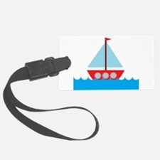 Red Sailboat in Water Luggage Tag