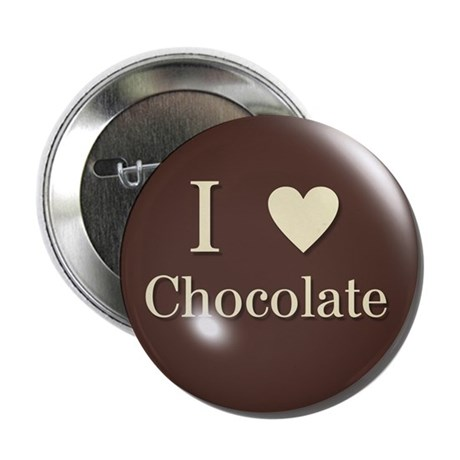 I Love Chocolate Button