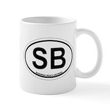 Savannah Beach GA - Oval Design. Mug