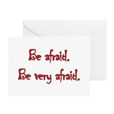 Be Afraid Greeting Cards (Pk of 10)