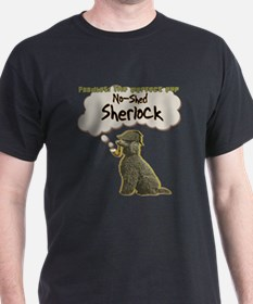 No Shed Sherlock poodles mystery detective funny T