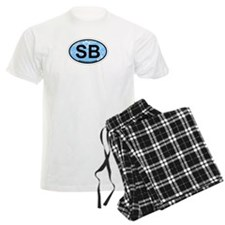 Savannah Beach GA - Oval Design. Pajamas