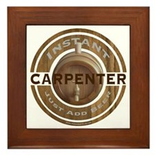 Instant Carpenter Beer Framed Tile