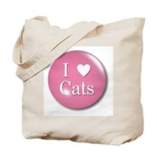 I Love Heart Cats Lover Tote Bag
