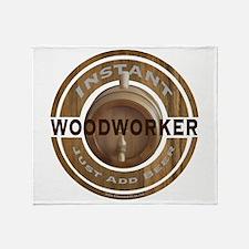 Instant Woodworker Beer Throw Blanket