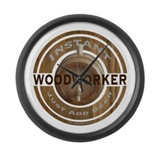 Instant Woodworker Beer Large Wall Clock