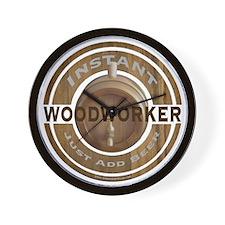 Instant Woodworker Beer Wall Clock