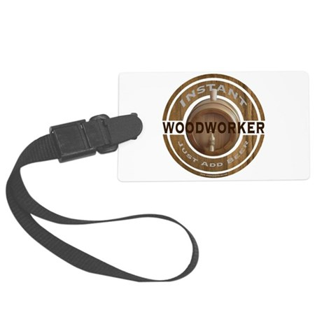 Instant Woodworker Beer Large Luggage Tag