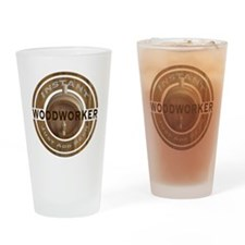 Instant Woodworker Beer Drinking Glass