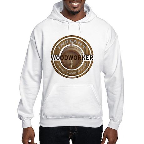 Instant Woodworker Beer Hooded Sweatshirt