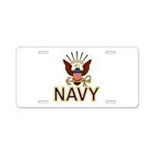 USN Navy Eagle Gold Aluminum License Plate