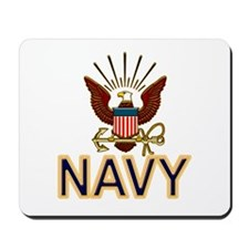 USN Navy Eagle Gold Mousepad