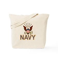 USN Navy Eagle Gold Tote Bag