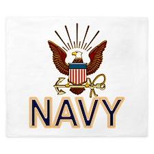 USN Navy Eagle Gold King Duvet