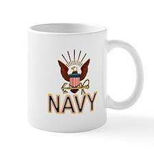 USN Navy Eagle Gold Mug