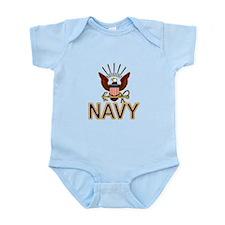 USN Navy Eagle Gold Infant Bodysuit