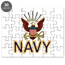USN Navy Eagle Gold Puzzle
