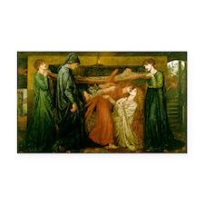 Dantes Dream by Rossetti Rectangle Car Magnet