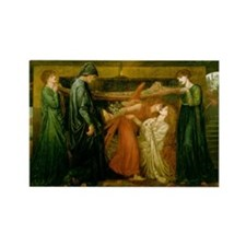 Dantes Dream by Rossetti Rectangle Magnet