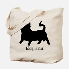 Black España Bull Tote Bag
