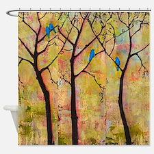 Bluebirds in Trees Shower Curtain