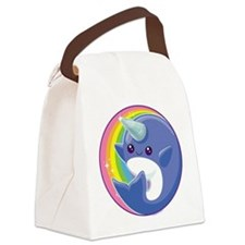Kawaii Narwhal Canvas Lunch Bag