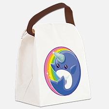 Kawaii Narwhal Canvas Lunch Bag