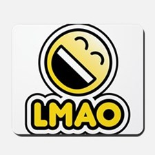 lmao bbm smiley Mousepad