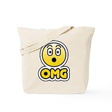 omg bbm smiley Tote Bag