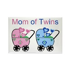 Mom of Twins (Girl & Boy) Rectangle Magnet
