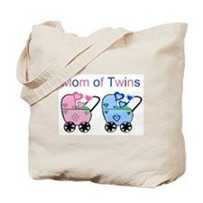 Mom of Twins (Girl & Boy) Tote Bag