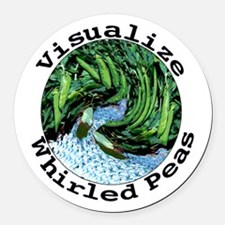 Visualize Whirled Peas Round Car Magnet