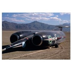 Thrust SSC, the world's first supersonic car Framed Print